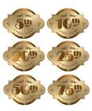 Ícones do aniversário Fotos de Stock