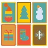 Ícones do ano novo e do Natal Fotos de Stock
