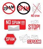 ícones do Anti-Spam ilustração stock