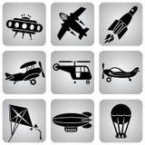 Ícones do ar ilustração stock