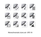 Ícones do arquivo ilustração stock
