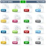 Ícones do arquivo - série de Robico Foto de Stock