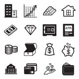 ícones do ativo ajustados Foto de Stock Royalty Free