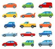 Ícones do automóvel de passageiros ilustração do vetor