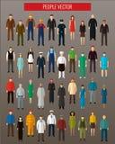 Ícones do Avatar dos povos Ícones lisos dos povos Vetor Foto de Stock