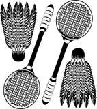 Ícones do Badminton Imagem de Stock