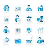Ícones do banco e da finança Fotografia de Stock