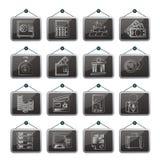 Ícones do banco e da finança Imagem de Stock Royalty Free