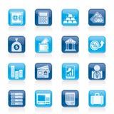 Ícones do banco e da finança Imagens de Stock