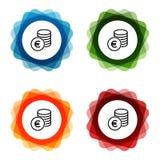 ?cones do banco do Euro do dinheiro do dinheiro Vetor Eps10 ilustração do vetor