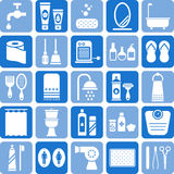 Ícones do banheiro Fotos de Stock Royalty Free