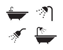 Ícones do banho Imagens de Stock Royalty Free
