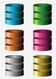Ícones do base de dados Fotos de Stock