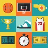 Ícones do basquetebol Fotos de Stock