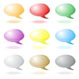 ícones do bate-papo 3d Imagens de Stock Royalty Free
