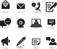 Ícones do bate-papo e da mensagem Imagem de Stock Royalty Free