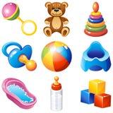 Ícones do bebê Fotografia de Stock Royalty Free
