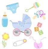 Ícones do bebê Imagens de Stock Royalty Free