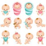 Ícones do bebê Fotografia de Stock