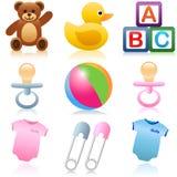 Ícones do bebê Foto de Stock Royalty Free