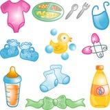 Ícones do bebê ajustados Foto de Stock