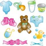 Ícones do bebê ajustados Fotos de Stock