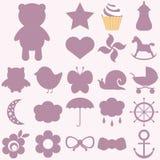 Ícones do bebê ajustados Imagens de Stock