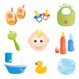Ícones do bebê ajustados. Imagens de Stock