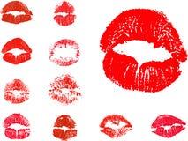 Ícones do beijo do vetor Foto de Stock Royalty Free