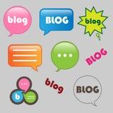 Ícones do blogue ilustração stock