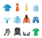 Ícones do boutique e da forma da roupa Imagens de Stock Royalty Free