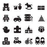 ícones do brinquedo da silhueta Fotos de Stock Royalty Free