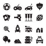 ícones do brinquedo da silhueta Ilustração do Vetor