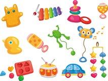 Ícones do brinquedo do vetor. Brinquedos do bebê Fotos de Stock