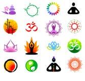 Ícones do buddhism do vetor Fotografia de Stock