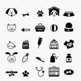Ícones do cão Imagens de Stock
