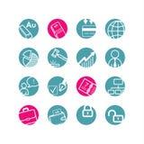 Ícones do círculo de negócio Imagens de Stock