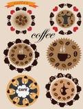 Ícones do café Fotografia de Stock Royalty Free