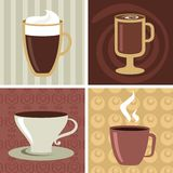 Ícones do café/logotipo ajustado - 2 Imagens de Stock