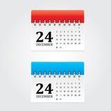 Ícones do calendário Fotografia de Stock Royalty Free