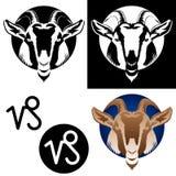 Ícones do Capricorn do zodíaco Imagem de Stock Royalty Free