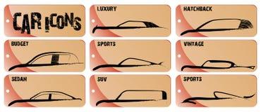 Ícones do carro ilustração royalty free