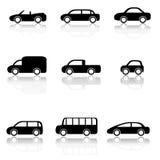 Ícones do carro ajustados Imagem de Stock Royalty Free