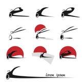 Ícones do carro da silhueta, símbolos Imagem de Stock Royalty Free