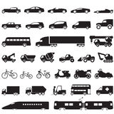 Ícones do carro do transporte ajustados Imagem de Stock