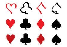 Ícones do cartão de jogo Fotos de Stock Royalty Free