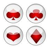 Ícones do cartão de jogo Foto de Stock