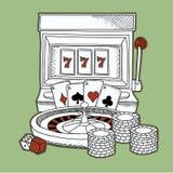 Ícones do casino ajustados Fotografia de Stock Royalty Free