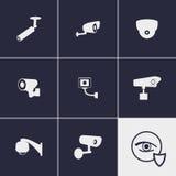 Ícones do CCTV Imagens de Stock