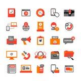Ícones do centro de apoio ajustados Imagem de Stock Royalty Free